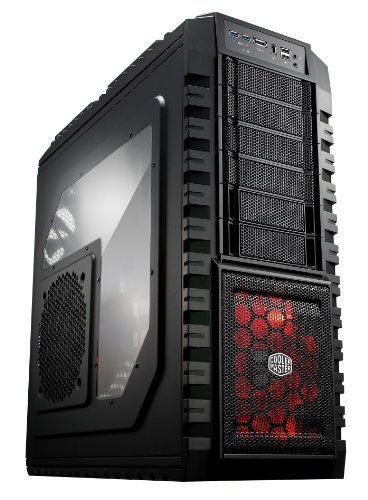 Cooler Master HAF X - Full Tower Computer Case with High Airflow Windowed Side Panel and USB 3.0 by Cooler Master