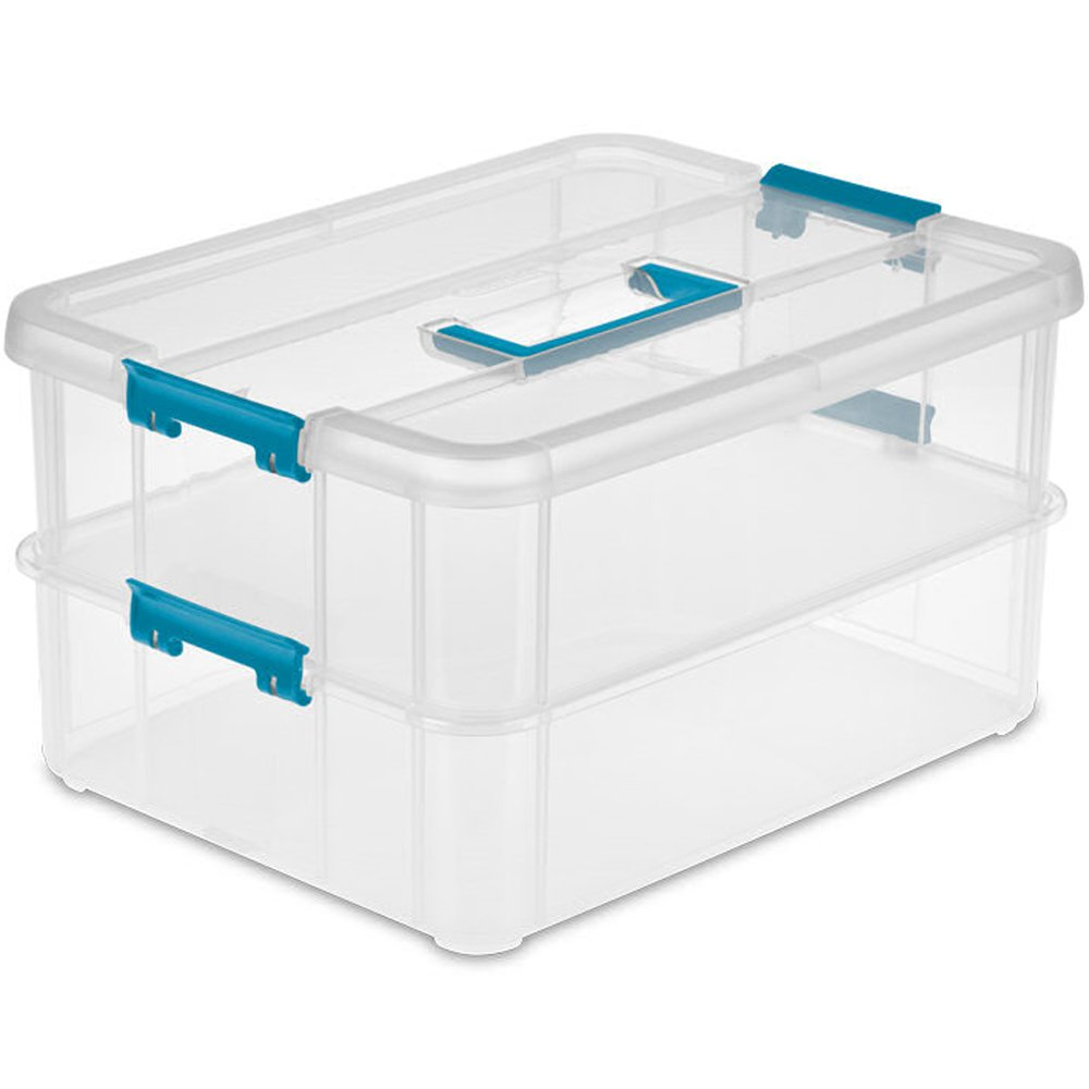 Marvelous Amazon.com: Sterilite 14228604 Stack U0026 Carry 2 Layer Handle Box, 1   Pack:  Home U0026 Kitchen