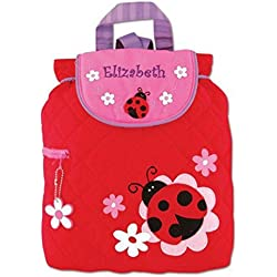 40938d7294 Personalized Stephen Joseph Quilted Ladybug Toddler Backpack