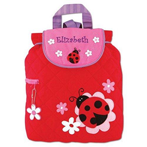 Personalized Stephen Joseph Quilted Ladybug Toddler Backpack (Ladybug Quilted)
