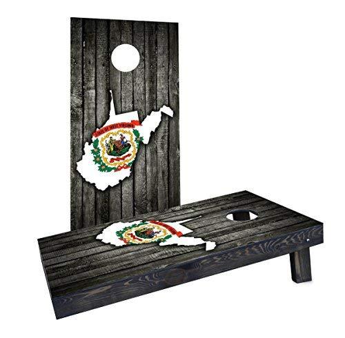 【同梱不可】 Custom Cornhole Boards CCB1590-2x4-AW Wood Slate CCB1590-2x4-AW State (West Flag & Boards Map (West Virginia) Cornhole Boards [並行輸入品] B07HLHQ75S, MIDLAND SHIP:35cb98d9 --- arianechie.dominiotemporario.com