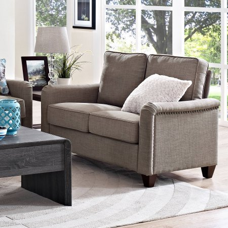 Better Homes And Gardens Grayson Loveseat With Nailheads Grey Best Sofas Online Usa