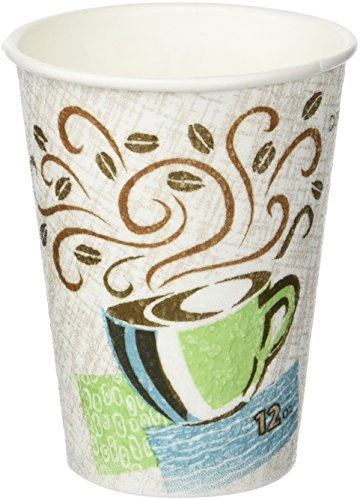 Perfectouch Coffee Cup Dixie (Dixie PerfecTouch Disposable 12 Ounce Coffee Cups 50 Total Qty 2 Sleeves of 25 Bundle)