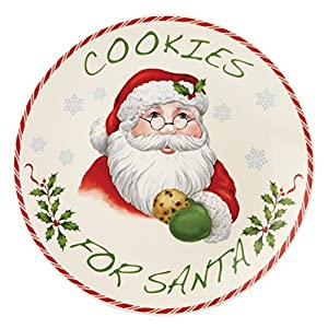 Amazon Com Lenox Holiday Cookies For Santa Plate Kitchen