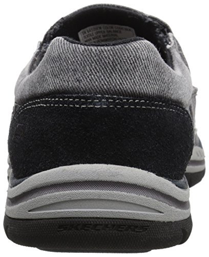 Avillo Skechers Black previsto scarpa sulla Casual uomo scivolare qgvw5Sg