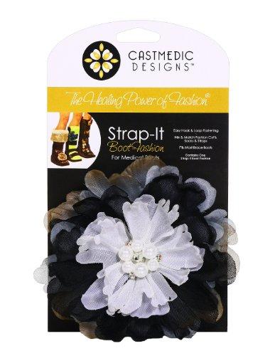 CastMedic Designs Strap-It Flower Pearl, Grey