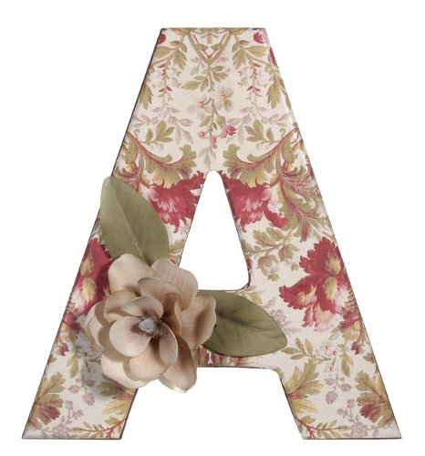 Darice 0993 a decorative wood letter a 12 inch import for Darice 7 fancy wood letters