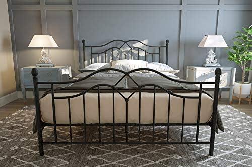 f719c4527514 Amazon.com: DHP Tokyo Metal Bed, Classic Design, Includes Metal Slats,  Queen, Bronze: Kitchen & Dining