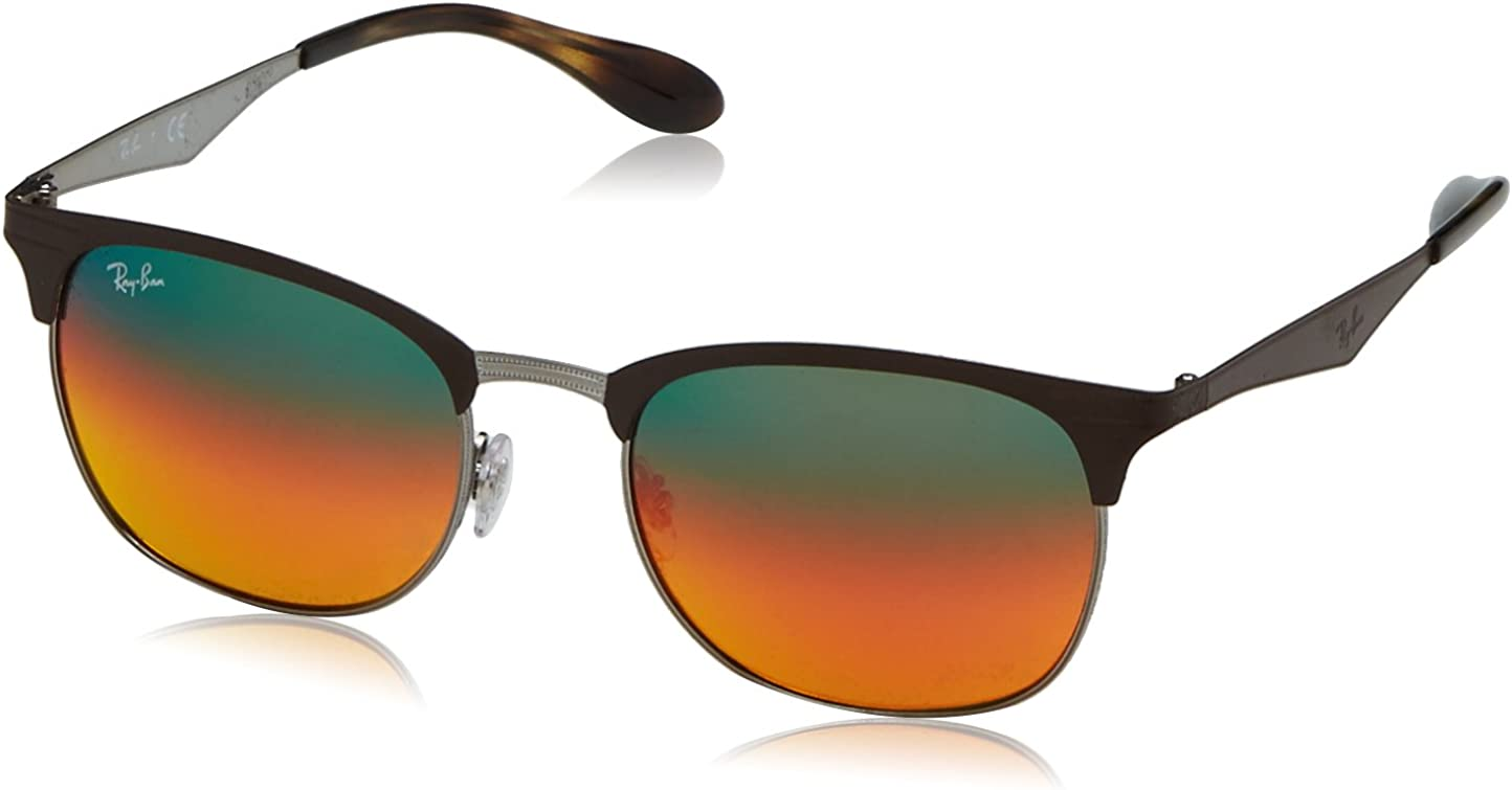 RAY-BAN 0Rb3538 Gafas de sol, Gunmetal/Matte Brown, 53 Unisex-Adulto