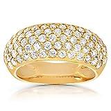 Round-cut Diamond Band 1 1/4 carat (ctw) in 14K Yellow Gold