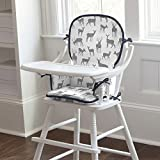 Carousel Designs Gray and Navy Deer High Chair Pad