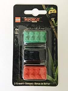 LEGO The Ninjago Movie Eraser 3-Pack