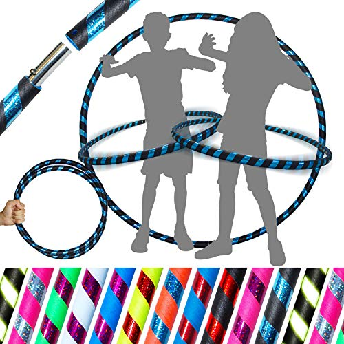 KID's HULA HOOPS - Quality Weighted Children's Hula Hoops! Great For Exercise, Dance, Fitness & FUN! NO Instructions needed! Same Day Dispatch! (Black / Blue ()