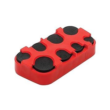 monedas dispensador de monedas 8 piezas, color rojo
