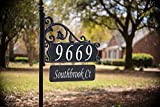 house name signs - USA Handcrafted Boardwalk Double Sided Super Reflective Yard Address Sign 48
