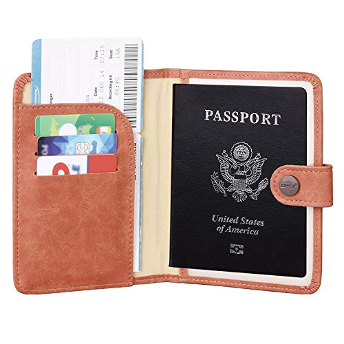 Zoppen Rfid Blocking Travel Passport Holder Cover Slim Id Card Case (#42 Salmon ()