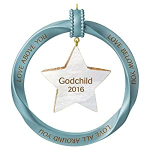 "Hallmark Keepsake 2016 ""Godchild"" Dated Holiday Ornament"