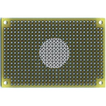 1.6 mm T 6.5 L x 4.5 W Vector #64P44XXXP Vectorbord General-Purpose Pre-Punched Prototyping Board