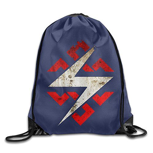 Price comparison product image AK79 Personalized Throbbing Gristle Drawstring Backpack White