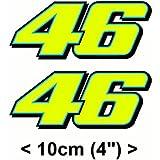 Valentino Rossi Aufkleber Gelb Fluoreszierend 46 Vinyl