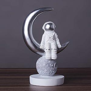 NBHUZEHUA Spaceman Statue Kids Boys Room Decor Outer Space Fun Preschool Learning Educational Toys