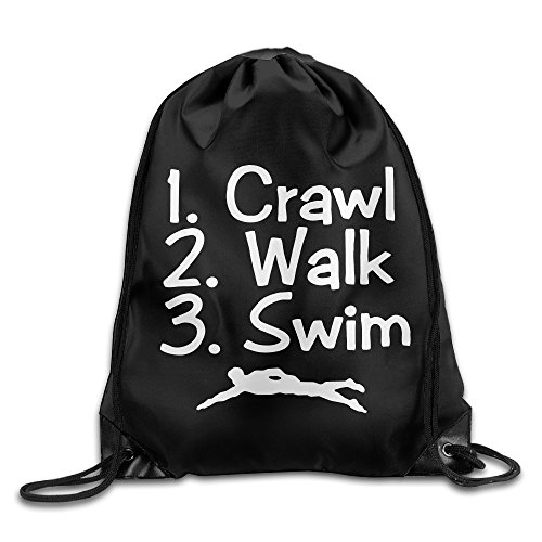PADDI Crawl Walk Swim Three Steps Drawstring Bag by PADDI (Image #1)'