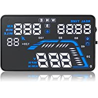 Arotom Q7 5.5 Car GPS HUD Head Up Display Over Speed Warning Speedometer Projector