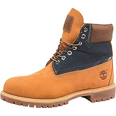 huge selection of bf0fc 643c5 Marron Clair Bleu Marine Timberland Boots 6 inch Classic Homme Marron Clair  Bleu -