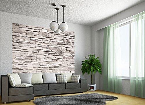 Muro di pietra bianca aspetto di pietra fotomurale quadro da