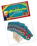 20 Muffinfähnchen * FEUERWEHR * von Lutz Mauder // 11189 // Kinder Geburtstag Party Kindergeburtstag Kinderparty Muffins Feuerwehrmann Feuerwehrmänner