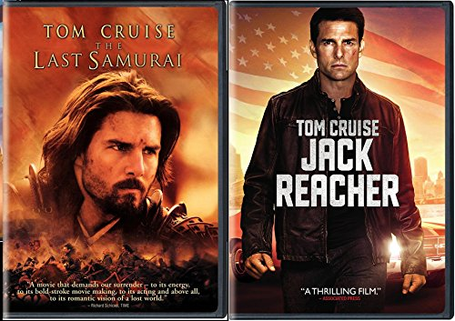 The Last Samurai + Jack Reacher DVD 2 Pack War Movie Tom Cruise Action Set