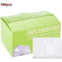 Zerone 100 Piezas removedor de Esmalte de uñas Papel de Aluminio Envuelve Toalla de Papel removedor de Gel UV Almohadillas de algodón