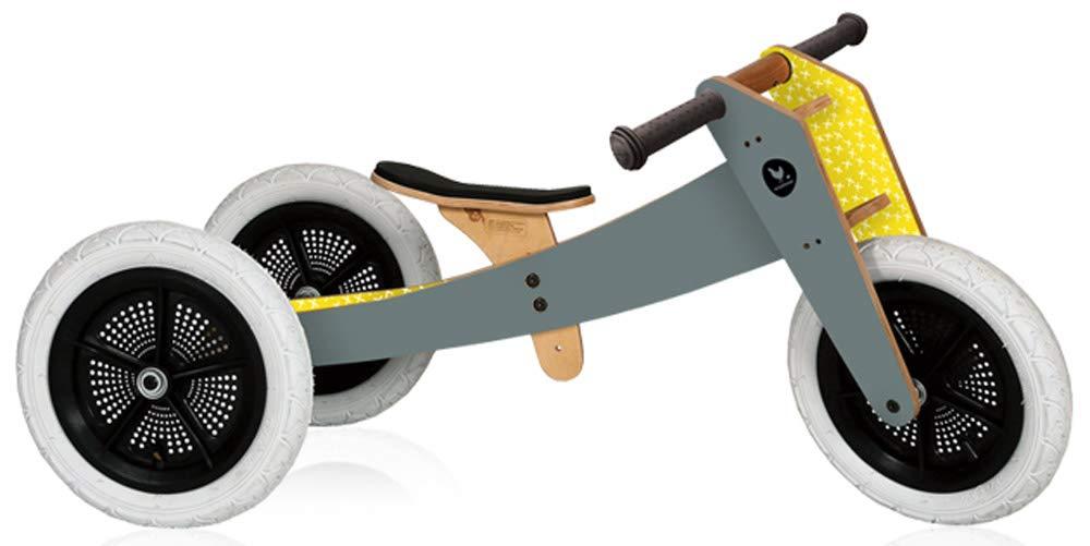 Wishbone Bike 3in1 in Grey, Quality Convertible Balance Bike, Ages 12 Months to 5 Years, Boys and Girls Wishbone Design Studio