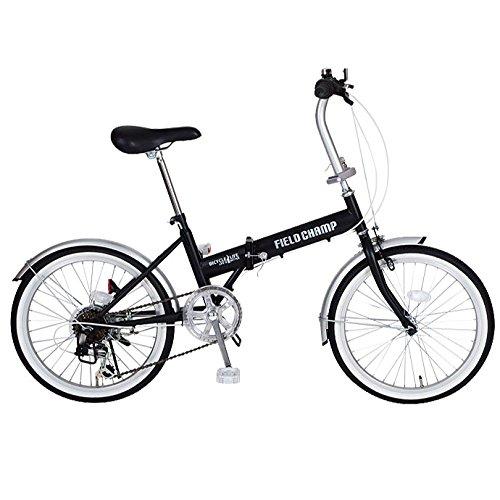 フィールド チャンプ【FIELD CHAMP】 折り畳み自転車 20インチ 6段ギア FDB20 6S MG-FCP206 1710 ブラック   B076CYQ1CZ