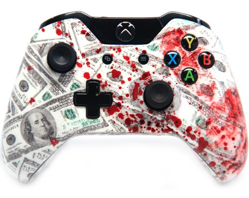 """""""Scary Blood Money"""" Xbox One Modded Controller 40 Mods for C"""