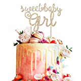 Best Crystal Dream Birthday Gifts For 12 Year Old Girls - Sweet Baby Girl Rhinestone Gold Metal Cake Topper Review