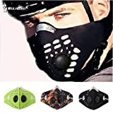 WOLFBIKE Super Anti-Pollution Motorcycle Bicycle Cycling Racing Mask Carbon Cloth Bike Ski Half Face Mask. Black