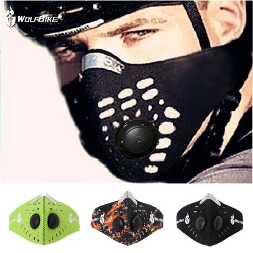 WOLFBIKE Super Anti-Pollution Motorcycle Bicycle Cycling Racing Mask Carbon Cloth Bike Ski...