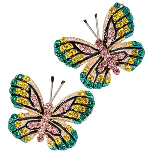 Butterfly Stud Earring Set - Szxc Jewelry Women Fashion Crystal Butterfly Stud Earrings