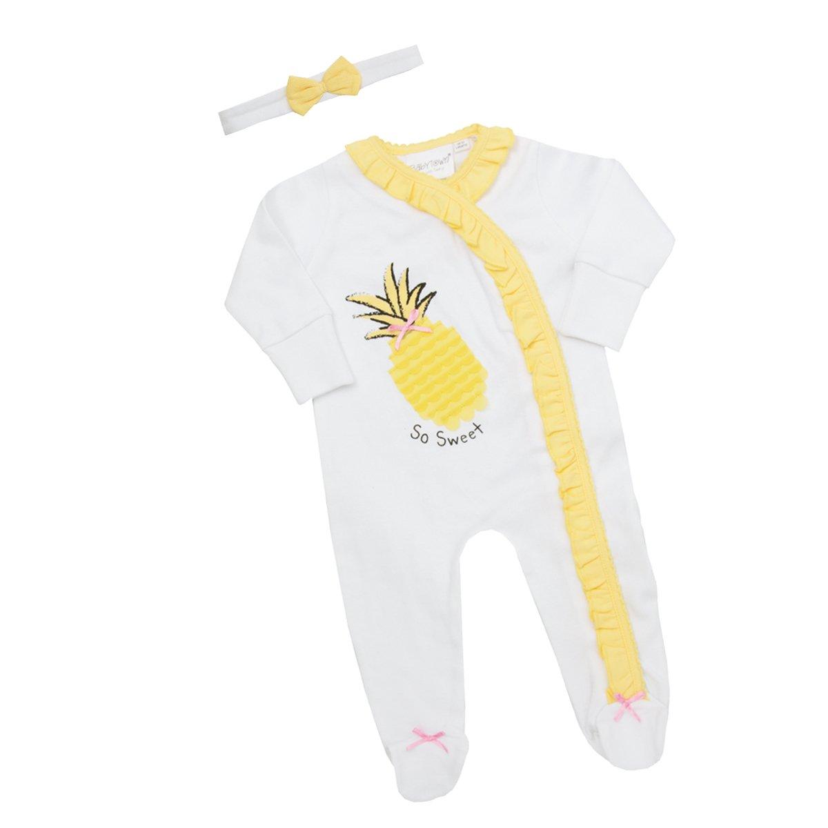 Babytown Baby Girls 2 Piece Sleepsuit & Headband Set