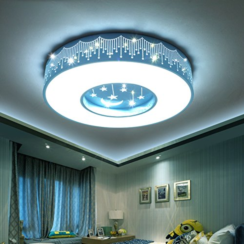 Round Stars Ceiling Light Health Eye Protection Simple Children's Room LED Lights ( Size : 40409CM ) by Cang teacher