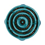 Image of Outward Hound Slow Feeder Dog Bowl Fun Feeder Stop Bloat Bowl for Dogs, Large, Teal