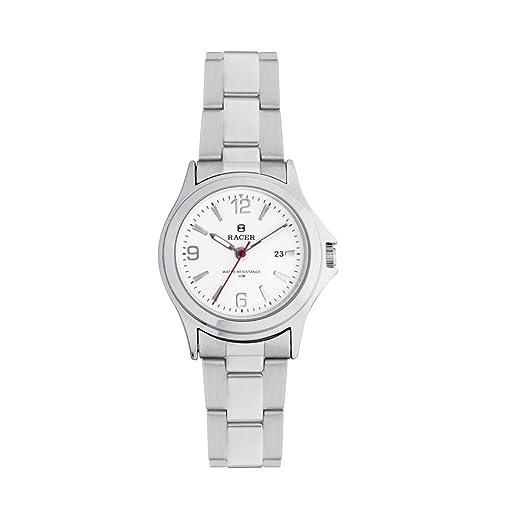 Racer CE501 - Reloj Analógico para Mujer, de Cuarzo con Correa en Acero Inoxidable: Amazon.es: Relojes