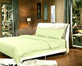How Wide Is a California King Size Bed Tache 3 Piece Solid Light Pea Sage Green Duvet Cover Set, Cal King