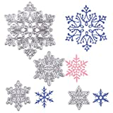 Office Products : DECORA Cutting Dies 4 Pcs Christmas Snowflakes Metal Stencil Template Mould DIY Scrapbook Album Paper Card Embossing Tool