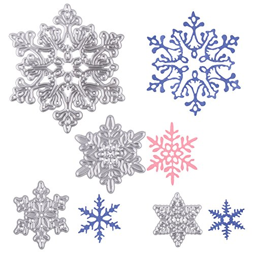 New Case Die - Decora Cutting Dies 4 Pcs Christmas Snowflakes Metal Stencil Template Mould DIY Scrapbook Album Paper Card Embossing Tool