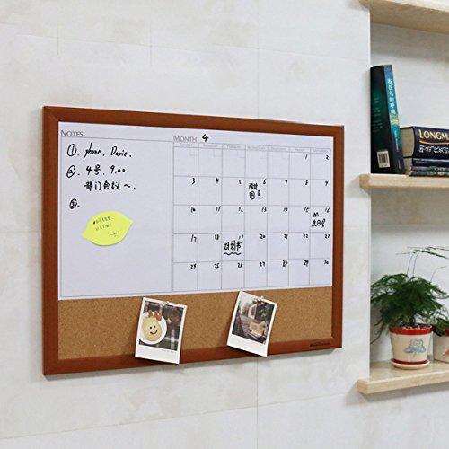 Dry Erase Board Calendar With Cork Board For Wall Framed