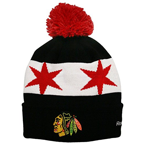 Chicago Blackhawks Youth 2016 Stadium Series Players Knit Hat with Pom