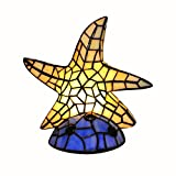 Table Lamp Stained Glass Tiffany Lamps Shade Starfish Night Light - 10