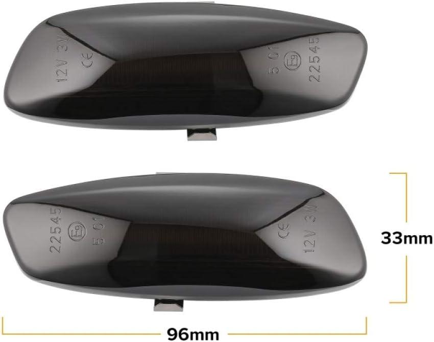 BANIKOP 2 Pezzi LED Dynamic Side Marker Indicatore di direzione Lampeggiatore sequenziale per Peugeot 308 207 3008 5008 per Citroen C4 C3 C5 DS3 DS4